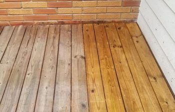 Deck Boards with One Side Pressure Washed Alpharetta GA