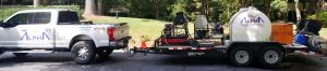 Alpharetta Pressure Washing truck with cleaning equipment