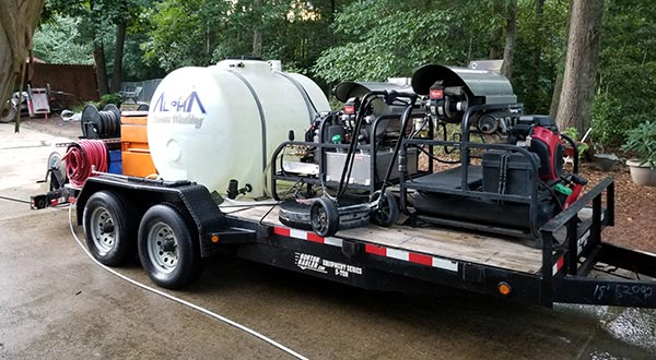 Alpharetta Pressure Washing cleaning equipment