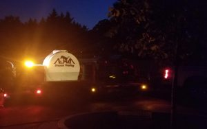 Alpharetta Pressure Washing truck with cleaning equipment