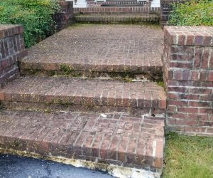brick steps before cleaning