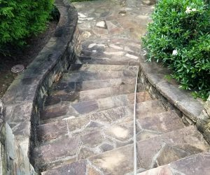 garden steps after pressure cleaning