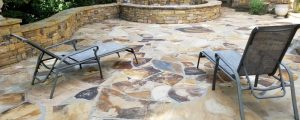 stone patio after pressure washing