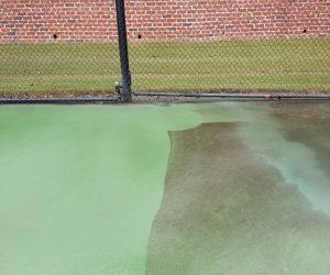 tennis court pressure washing